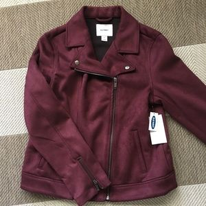 Burgundy Moto jacket size medium
